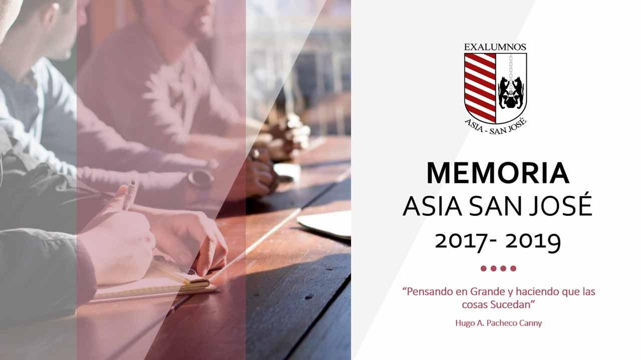 Memoria ASIA San José 2017 - 2019
